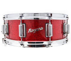 Rogers Dyna-Sonic Beavertail Lugs Red Sparkle 14