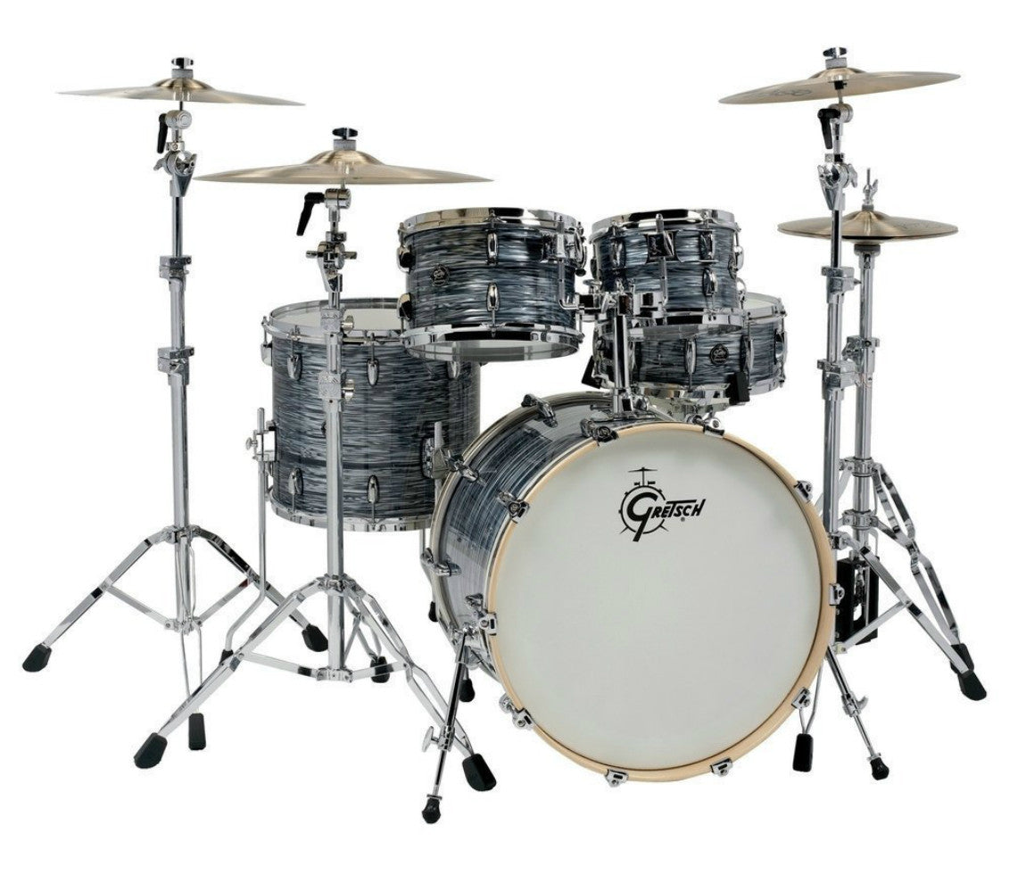 Silver Oyster Gretsch Renown Drum Kit