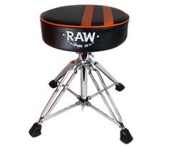 RAW Stripe Round Top Black Drum Throne