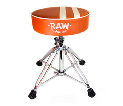 RAW Stripe Round Top Orange Drum Throne