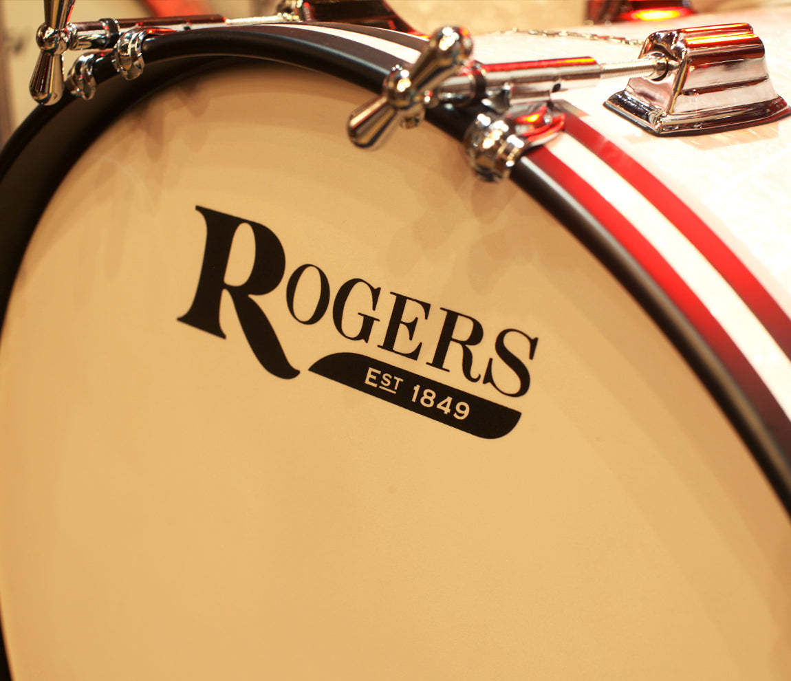 Rogers Covington Series 3pc Shell Pack in White Marine Pearl (22