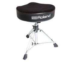 Roland, Drum Throne, RDT-S, Saddle Drum Throne, Velour Seat, Soft foam seat, Drum Accessories