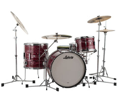 Ludwig Club Date Downbeat 3-Piece Shell Pack in Ruby Strata