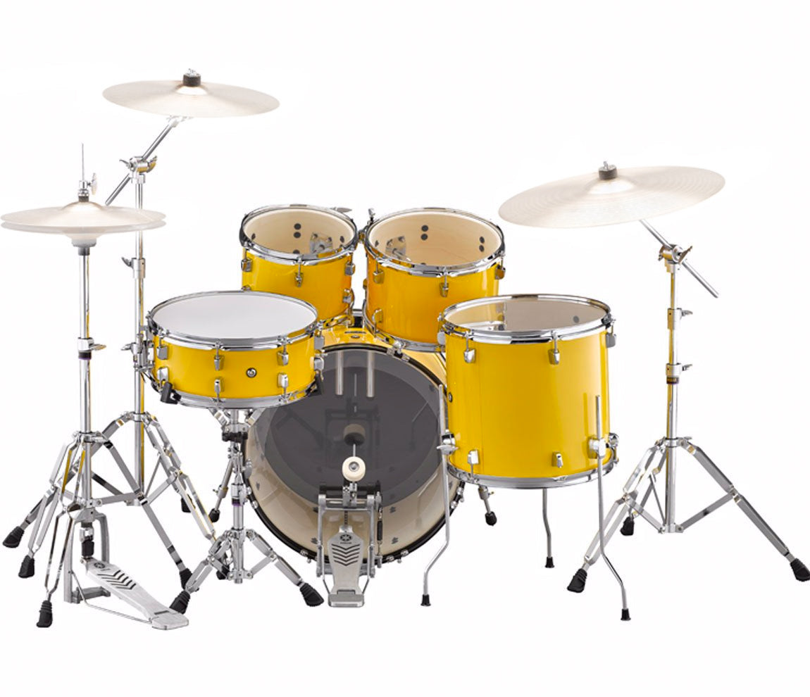 yamaha rydeen 20 rock fusion drum kit with hardware in mellow yellow drum shop. Black Bedroom Furniture Sets. Home Design Ideas