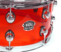 Natal Arcadia Red Acrylic Snare Drum