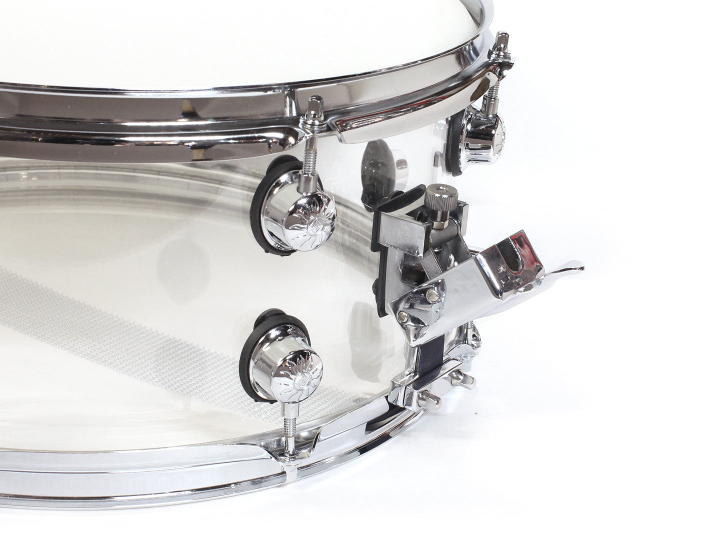 Natal Arcadia Transparent Clear Acrylic Snare Drum Throw Off