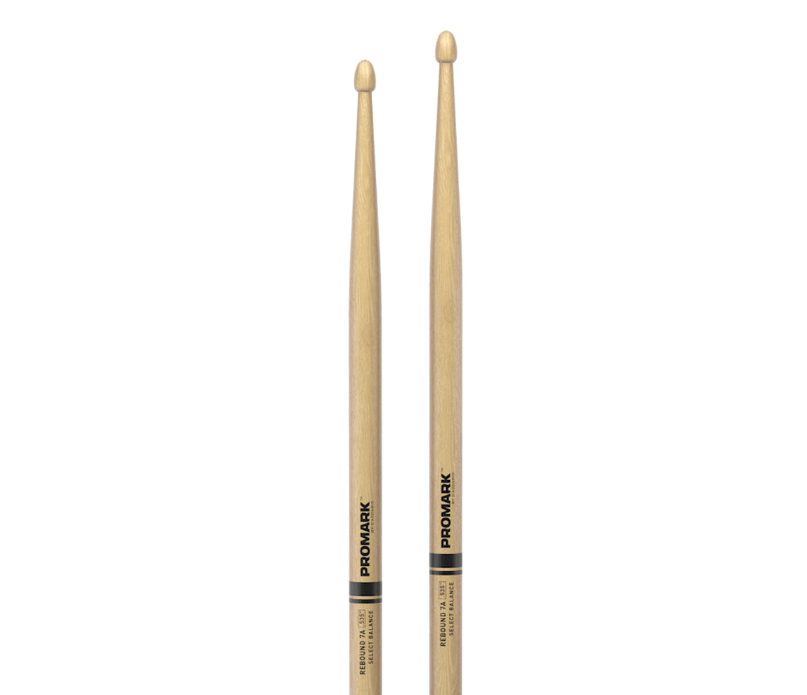 Promark Rebound 7A Hickory Acorn Wood Tip Drumsticks, Promark, Drumsticks, Hickory