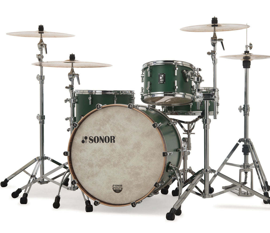 Sonor SQ1 322 Set NM GTB 3 Piece Shell Pack in Roadster Green, Sonor, Sonor SQ1 Series, Acoustic Drum Kits, Drum Kits, Roadster Green, 3-Piece