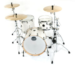 Mapex Saturn V Tour Edition 3 Piece Shell Pack, Mapex, Acoustic Drum Kits, Mapex Drums, Saturn V Tour Edition, White Marine Pearl
