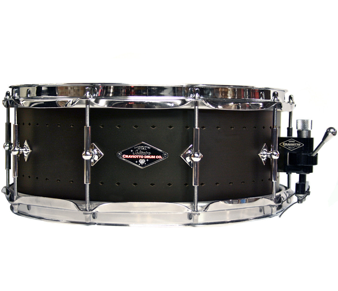 Craviotto Solitaire Series 14 x 5.5 Snare Drum In Matte Black