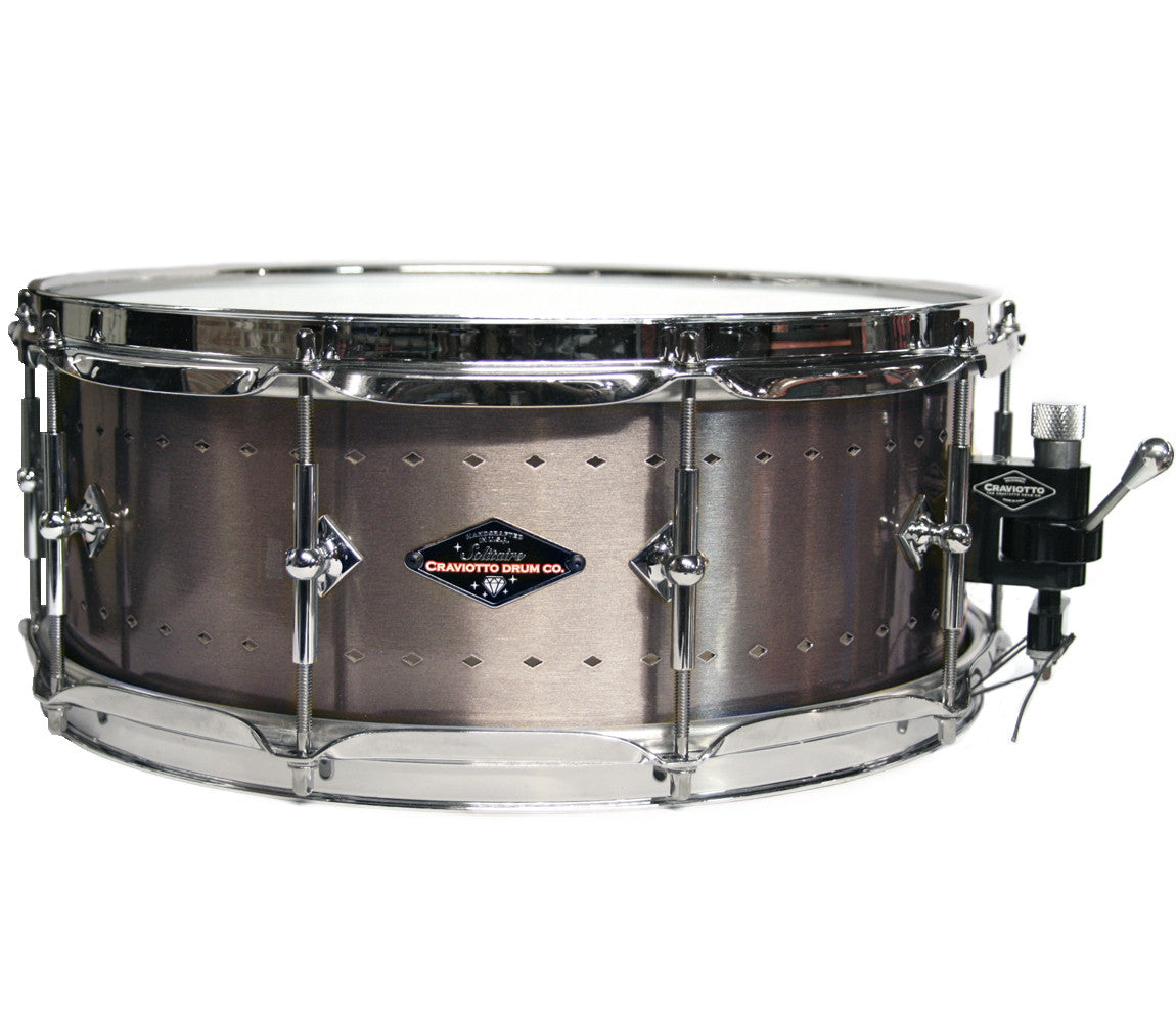 Craviotto Solitaire Series 14 x 5.5 Snare Drum In Aged Pewter