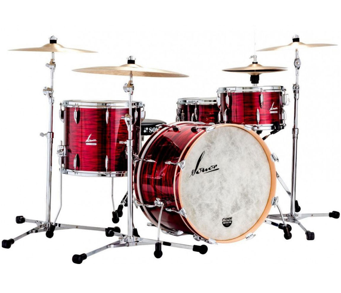 Sonor Vintage Series 3-Piece Shell Pack in Vintage Red Oyster, Sonor, Drum Kits, Acoustic Drum Kits, Drum Lounge, Vintage Red Oyster, 3-Piece