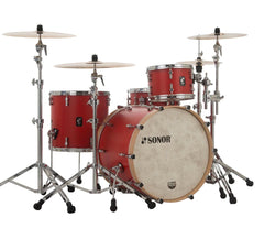Sonor SQ1 320 Set NM GTB 3 Piece Shell Pack in Hot Rod Red