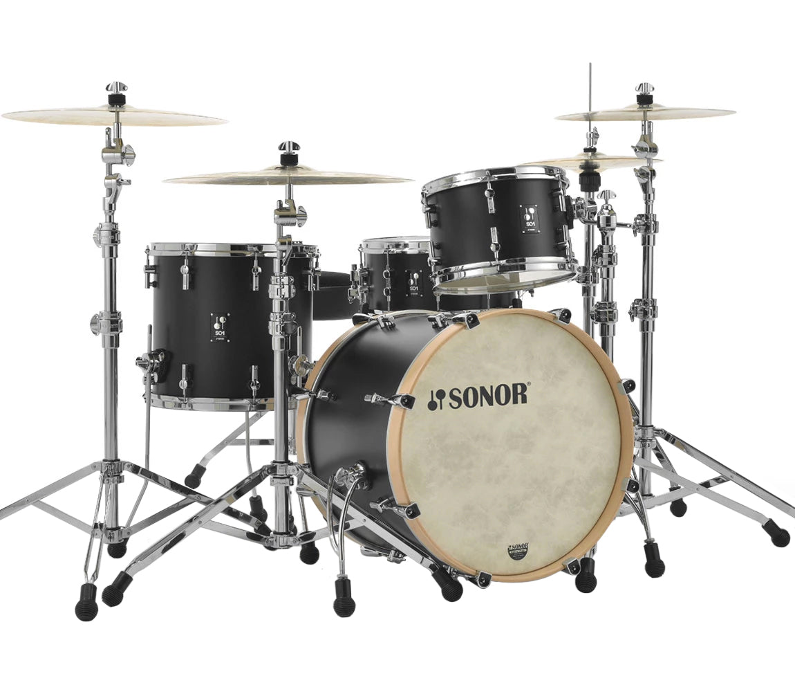 Sonor SQ1 322 Set NM GTB 3 Piece Shell Pack in GT Black