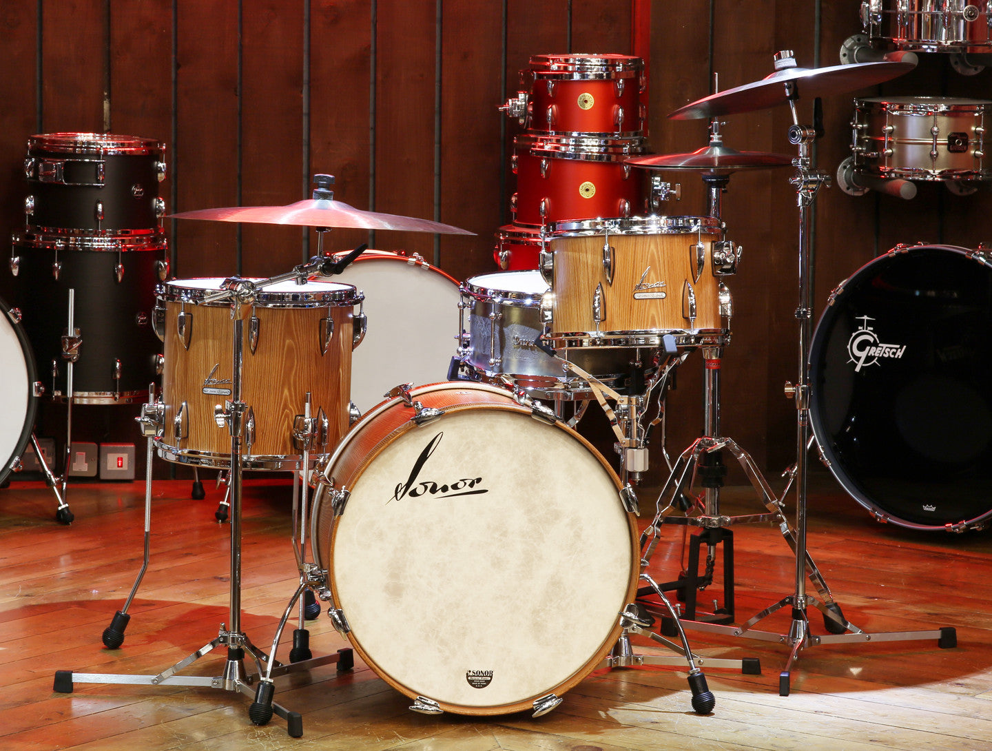 Sonor Vintage Series 4-Piece Shell Pack in Vintage Natural