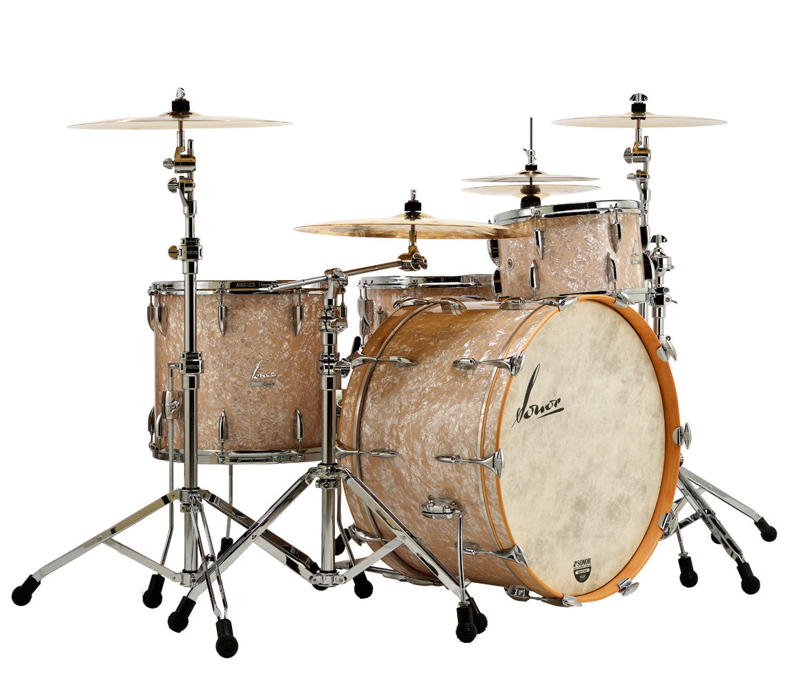 Sonor Vintage Series 4-Piece Shell Pack in Vintage Pearl