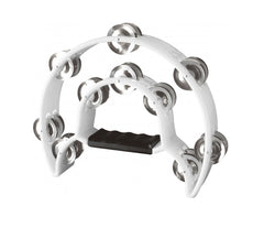 Stagg White Tambourine 20 Jingle Tambourine
