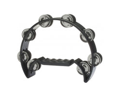 Stagg Cut Away Black Tambourine - 16 Jingles