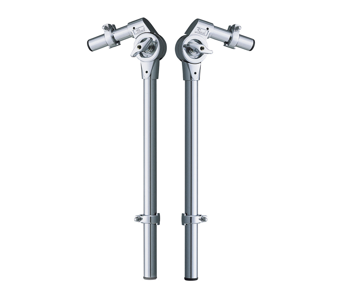 Pearl 800 Series Tom Holder with Gear Tilter - Long, Pearl, Tom Arms, Tom Holder, Long, Chrome