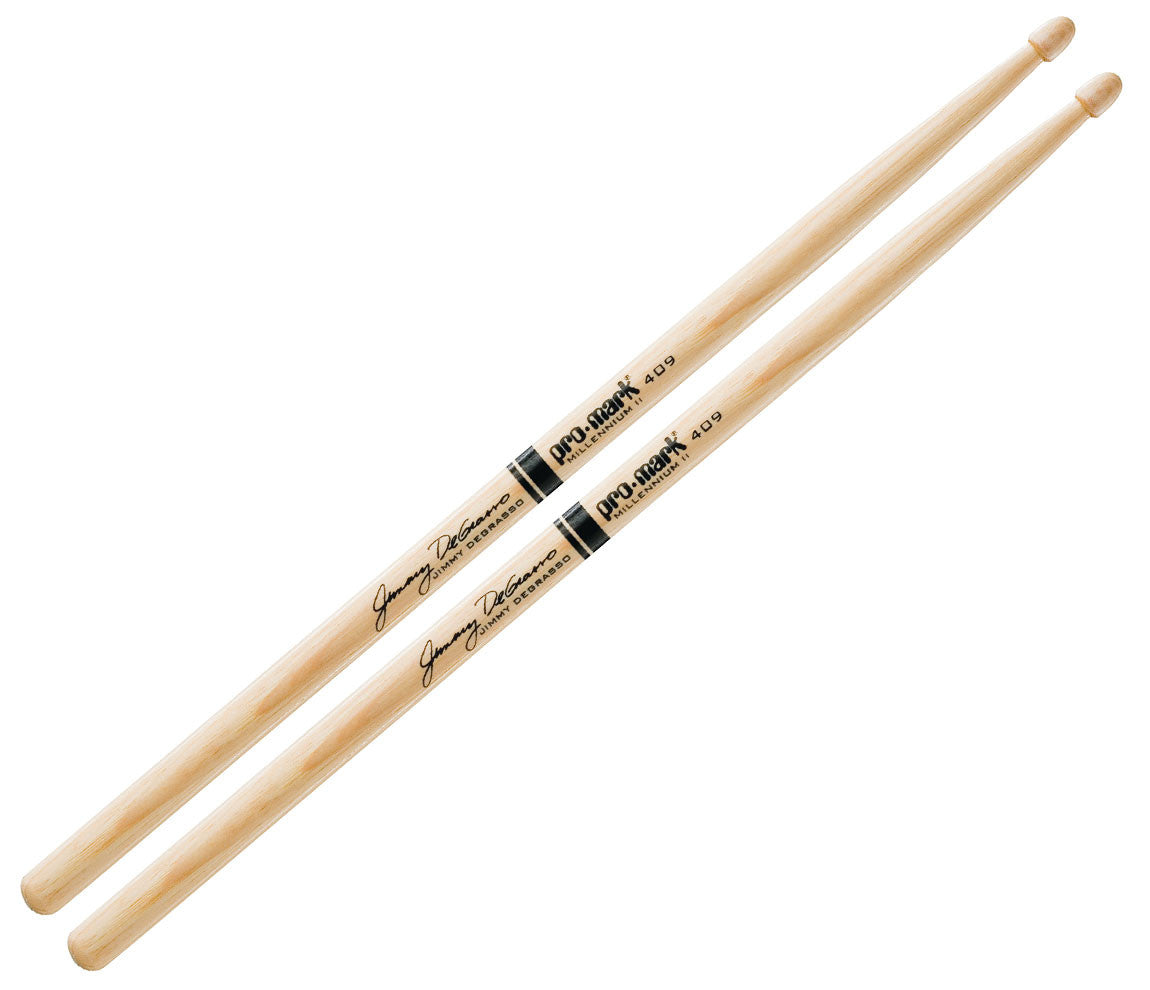 Pro-Mark Jimmy DeGrasso 409 Wood Tip Drumsticks (TX409W)