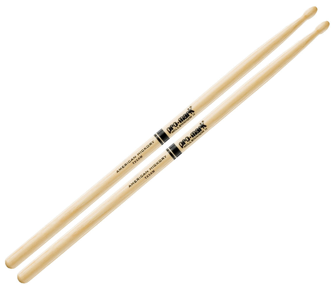 Pro-Mark American Hickory 5A Wood Tip Drumsticks (TX5AW)