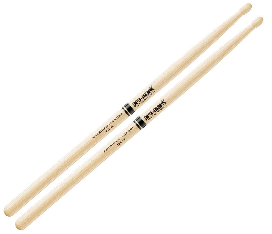 Pro-Mark American Hickory 5B Wood Tip Drumsticks (TX5BW)