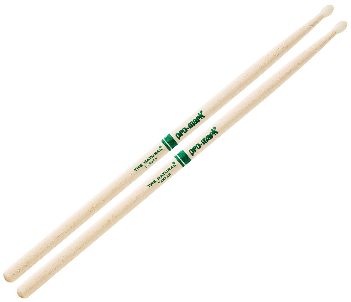 Pro-Mark American Hickory 5A Nylon Tip Drumsticks (TXR5AN)