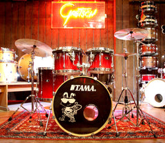 Tama Superstar Hyperdrive Custom 4 Piece in Red Fade