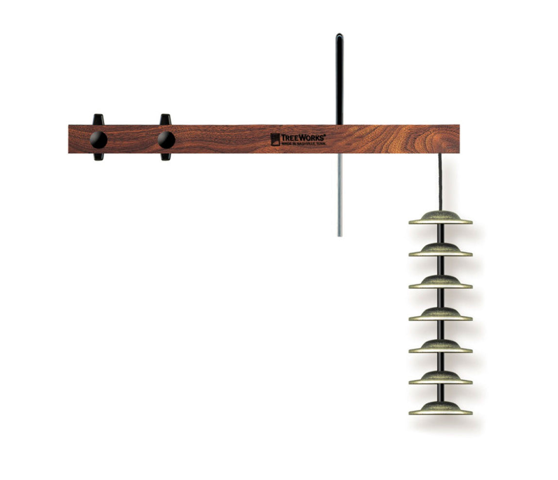TreeWorks Finger Cymbal Tree with Mount & Beater Bar, TreeWorks, Hand Percussion, Chimes and Bells