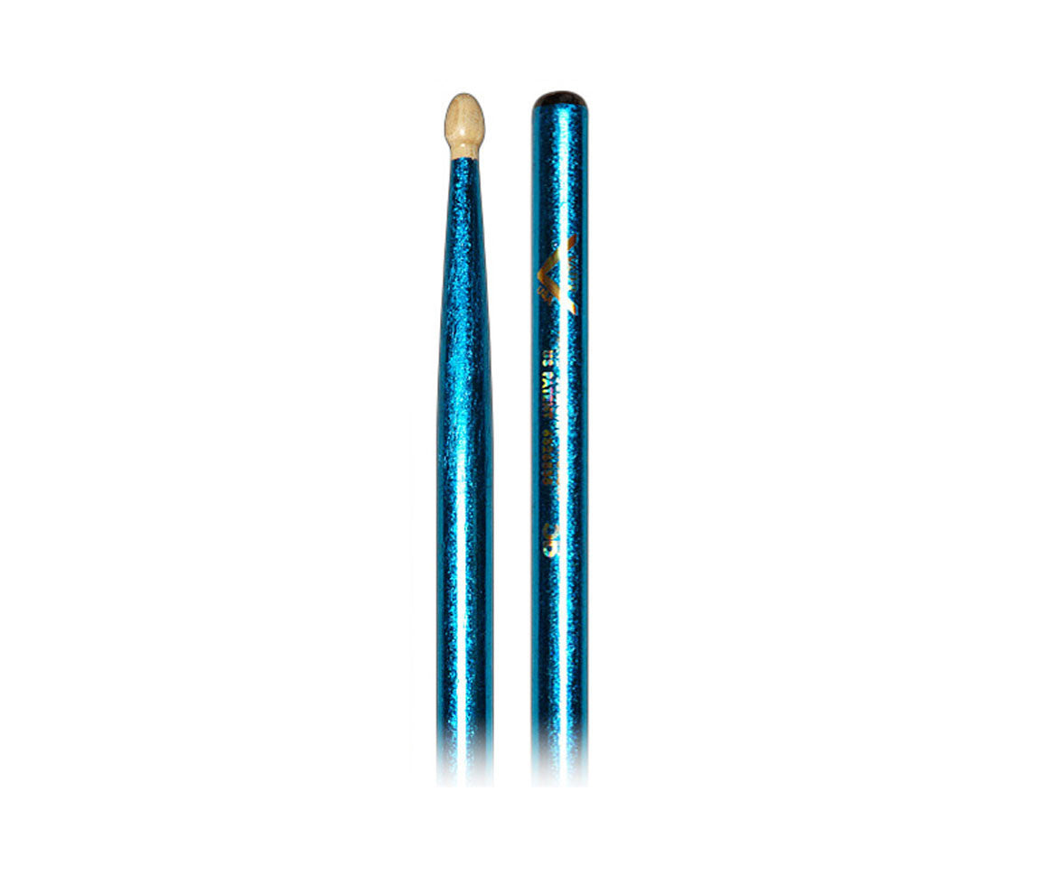 Vater Color Wrap Blue Sparkle 5B Drumsticks