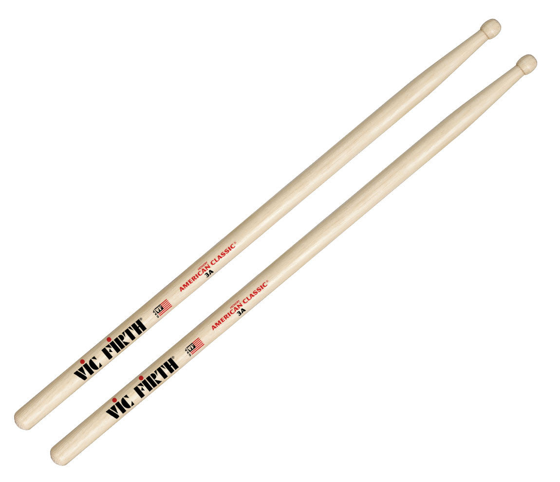 Vic Firth American Classic 3A Wood Tip Drumsticks