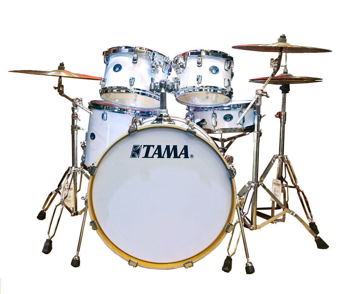 Tama Silverstar 5-Piece Drum Kit In Piano White