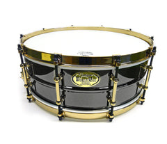 WorldMax Black on Brass/Aztec Gold Snare Drum  BK-5014SFXG