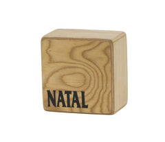Natal WSK-SQ-MB Square Wood Shaker in Mucha Burl