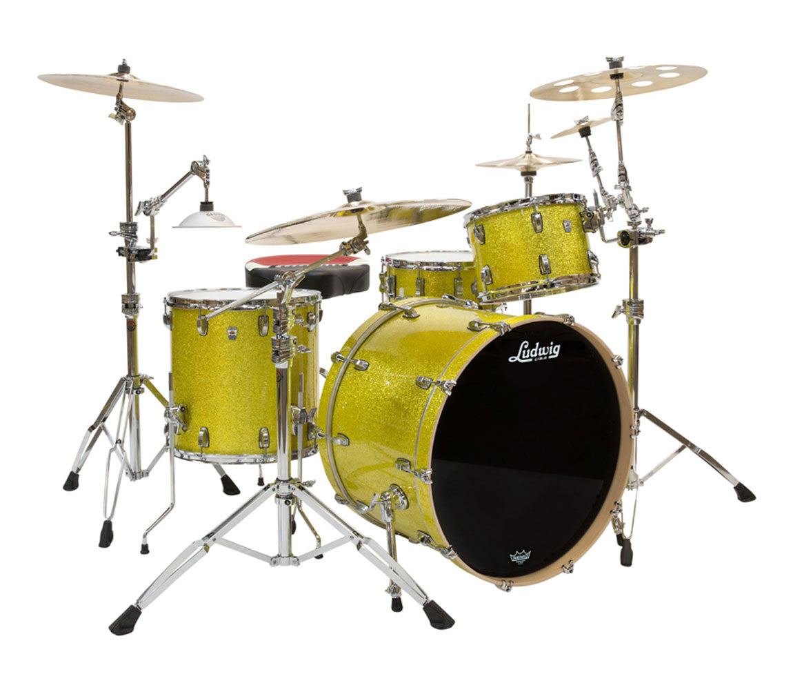 Ludwig Keystone X 4-Piece Shell Pack in Yellow Glitter