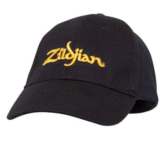 Zildjian Black Baseball Cap With Gold Logo