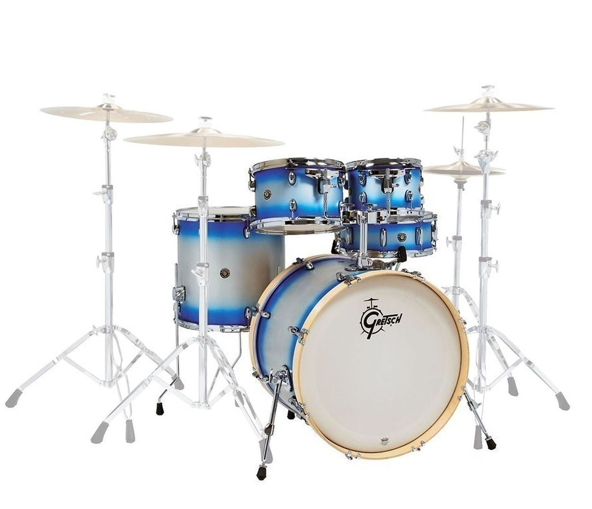 """Gretsch Catalina Birch 22"""" 4-Piece Limited Edition Blue Silver Duco Shell Pack"""