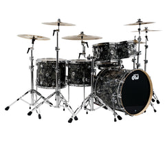 Drum Workshop Collector's Series 5-Piece Shell Pack in Silver Abalone with Black Hardware
