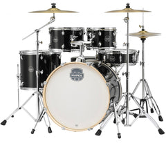 Mapex Storm Special Edition 5-Piece Rock Black Drum Kit with Hardware and Paiste 101 Cymbal Pack and FREE T400 Drum Throne, Mapex, Acoustic Drum Kits, 22