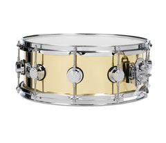 Brass Collector's Series Snare Polished Brass with Chrome Hardware