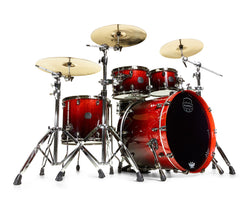 Mapex Saturn V Sound Wave 4-Piece Drum Kit cherry mist