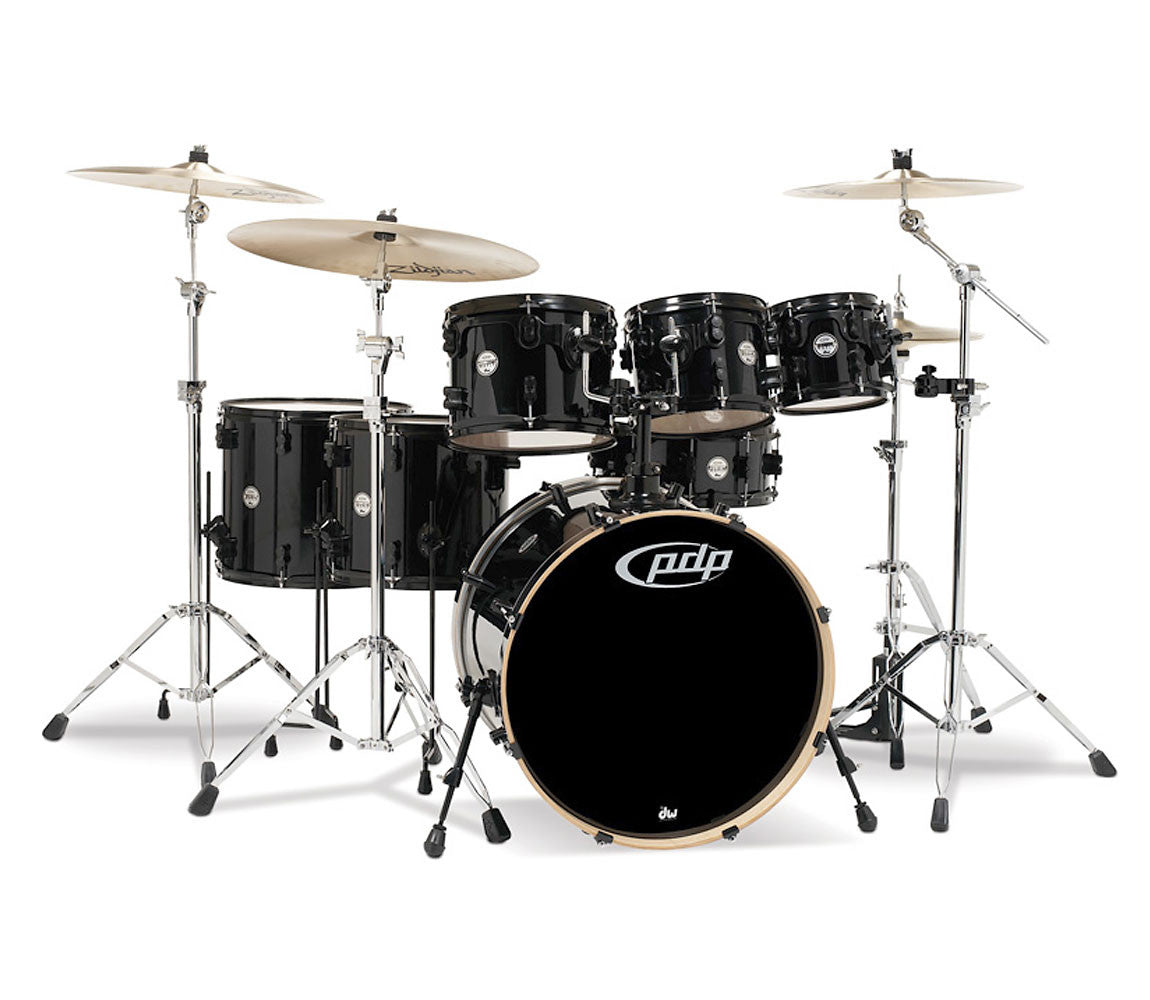 DW PDP Concept Maple 7-piece Shell Pack Pearlescent Black