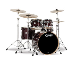 DW PDP Concept Maple 5-piece Shell Pack in Transparent Cherry