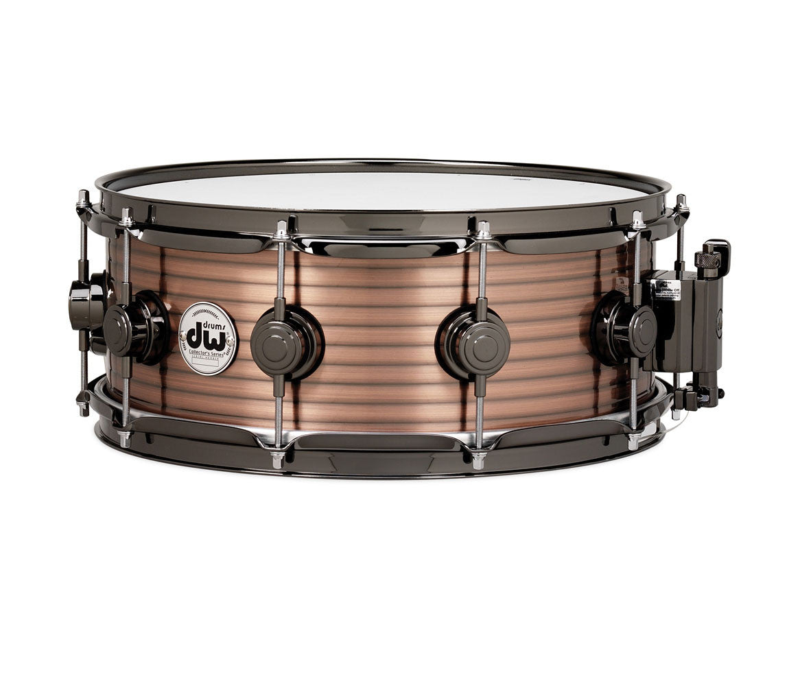Vintage Steel Collector's Series Snare Copper Finished Steel with Black Nickel Hardware