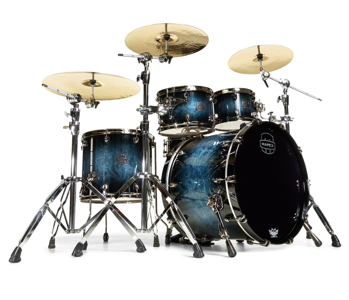 Mapex Saturn V Sound Wave 4-Piece Drum Kit deep water