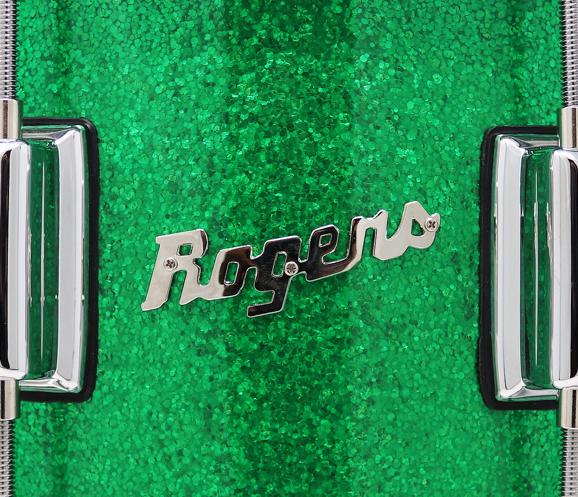 Rogers Dyna-Sonic Beavertail Lugs Green Sparkle 14
