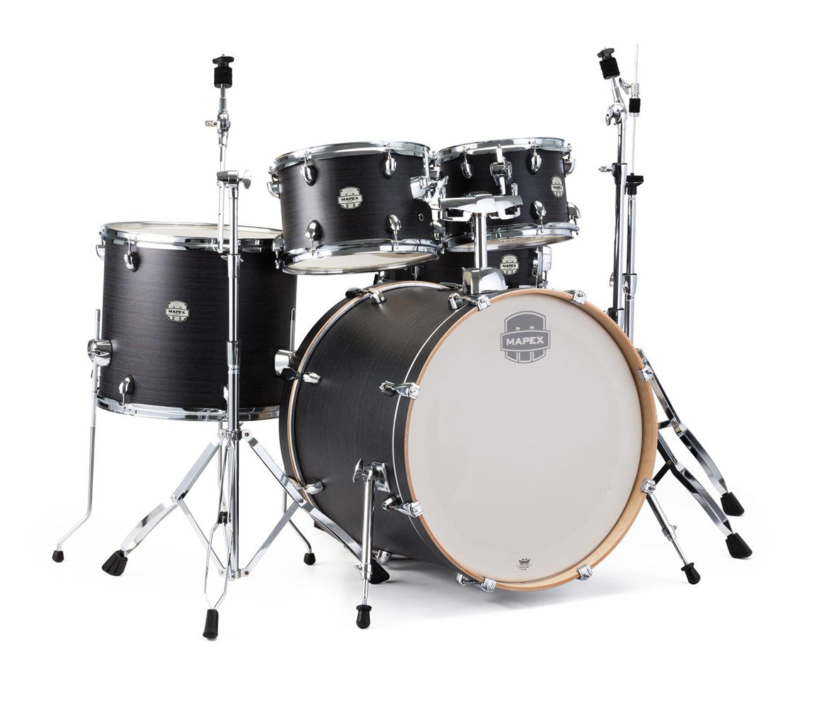 Mapex Storm 5-Piece Rock Drum Kit in Black Ebony Grain