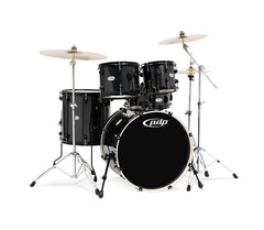 DW PDP Mainstage Series 5-piece Shell Pack in Black Metallic