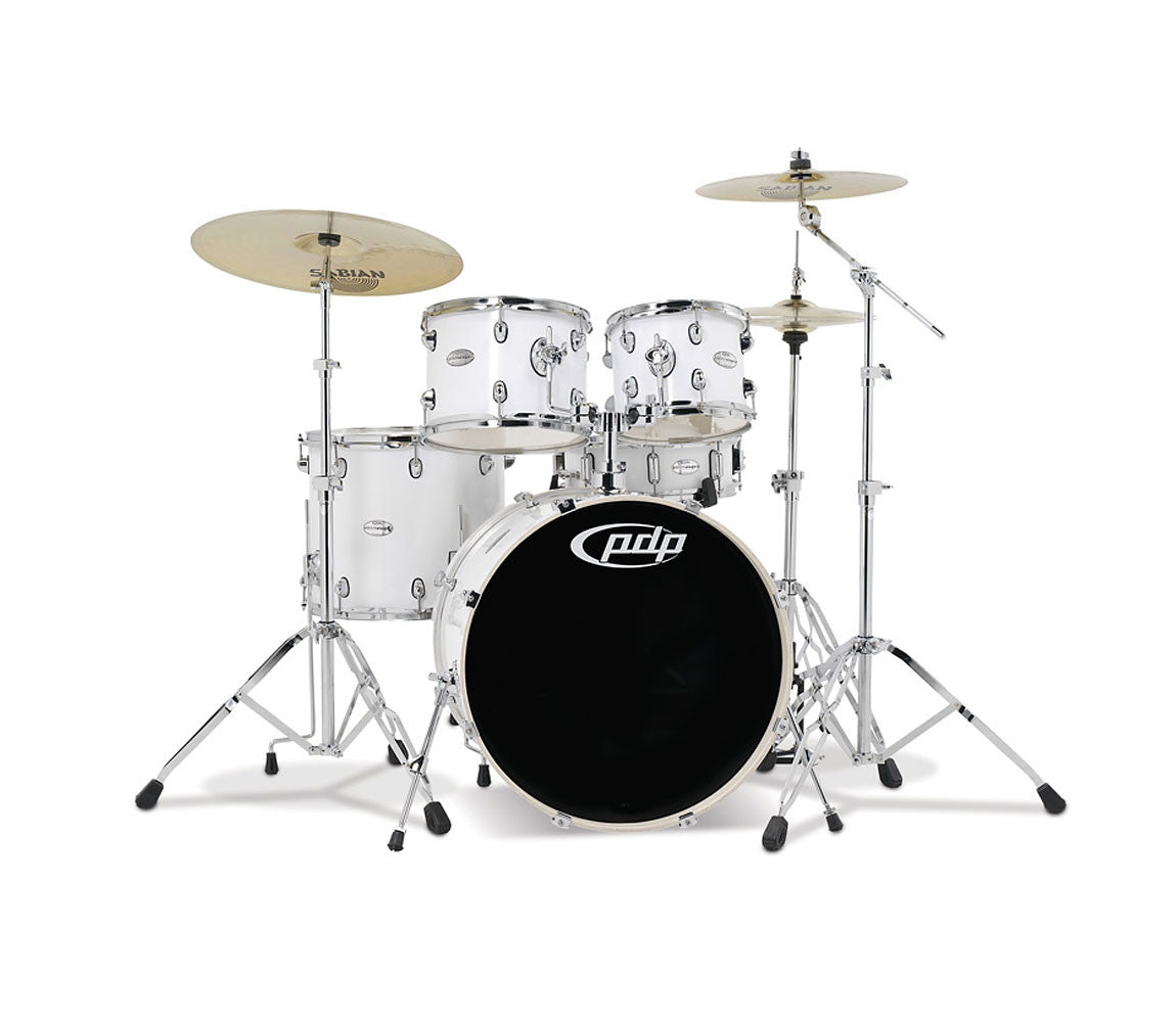 DW PDP Mainstage Series 5-piece Shell Pack in Gloss White
