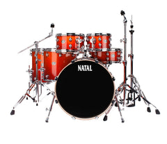 Natal Arcadia UFX Plus 6-Piece Drum Kit in Sunburst Lacquer Finish (Hardware & Paiste Cymbals Included)